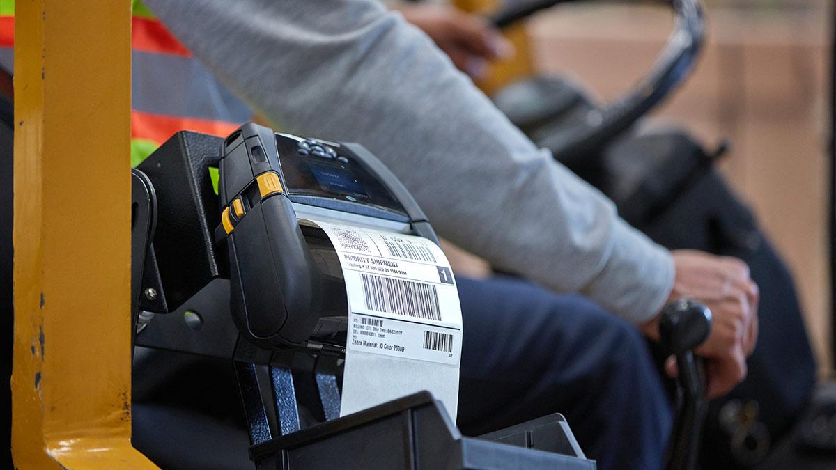 Media - label printing on forklift