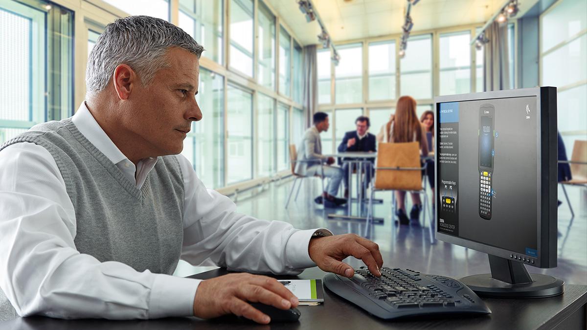 Software - man using computer
