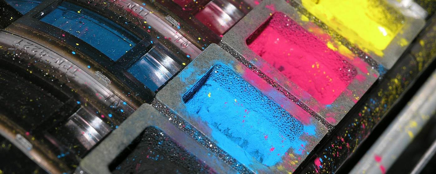 Closeup of inkjet cartridge