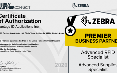 VantageID Awarded Zebra Advanced RFID Specialist