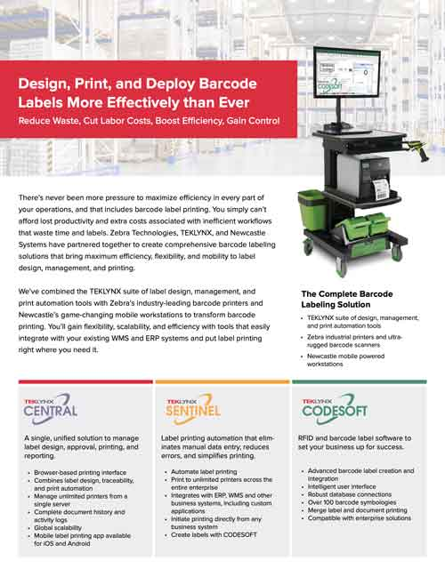 Design, Print, and Deploy Barcode Labels More Effectively