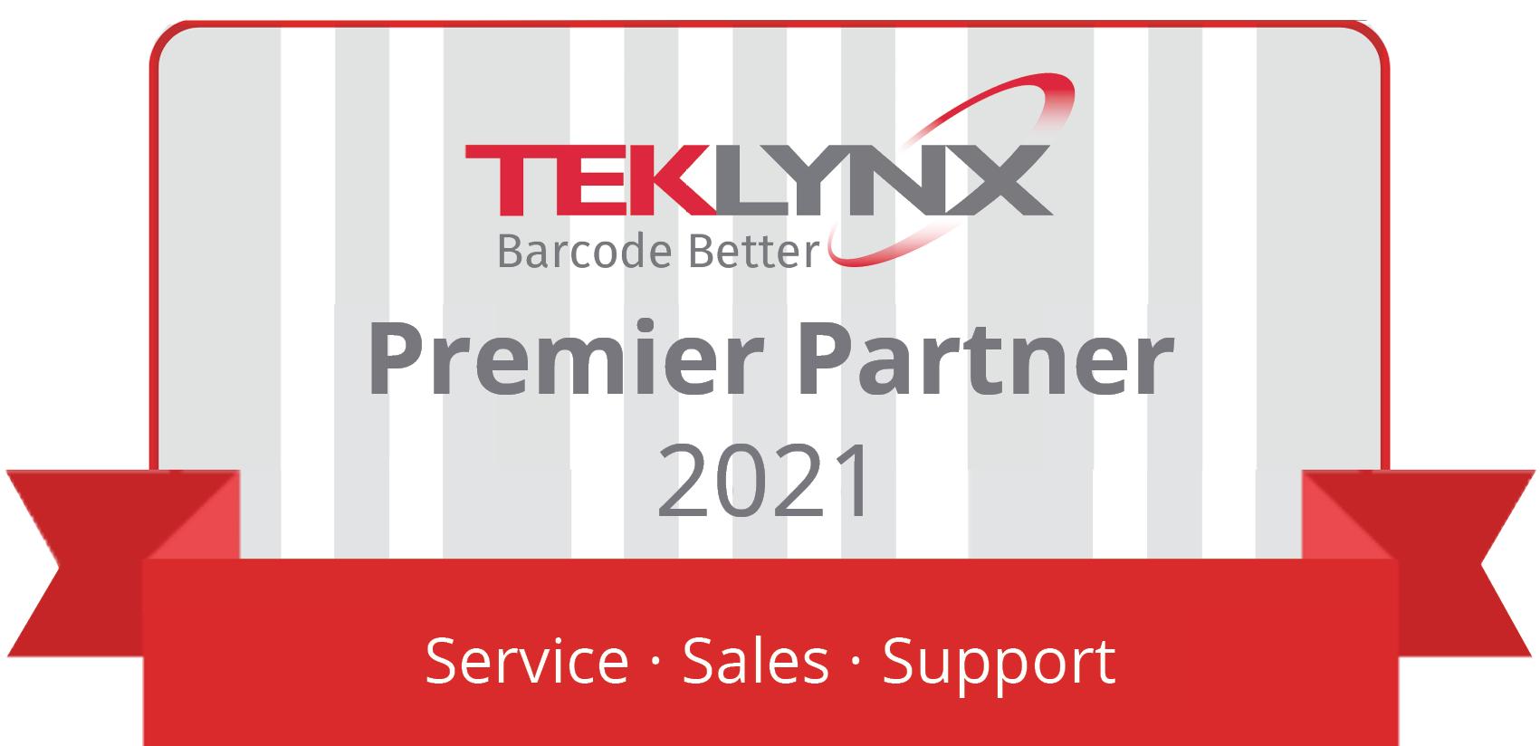 TEKLYNX Premier Partner 2021 Badge