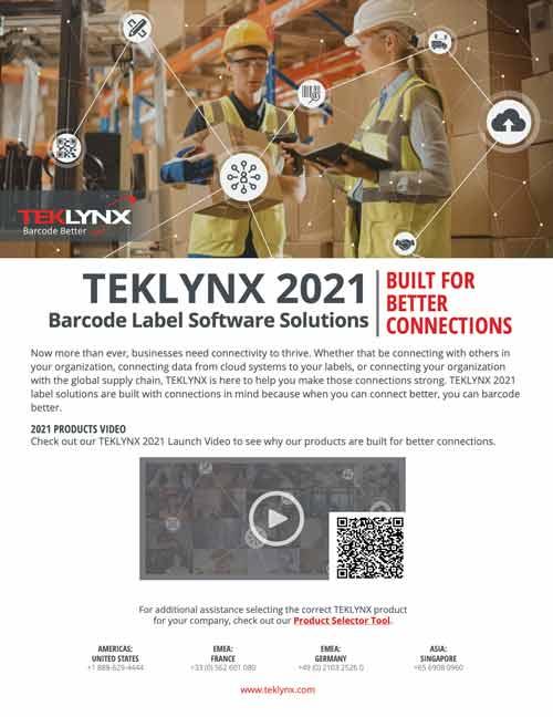 TEKLYNX 2021 – Fact Sheet